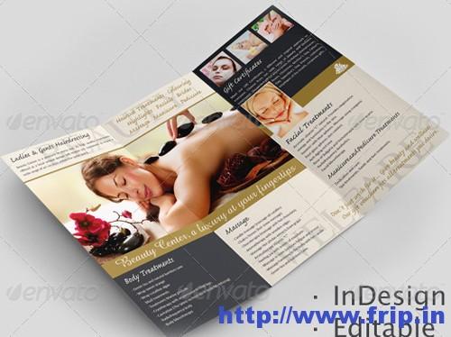 Beauty Center Tri Fold Brochure