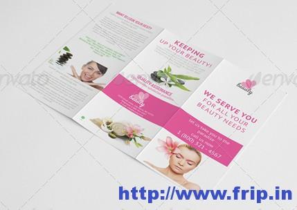 Beauty Salon Tri Fold Brochure