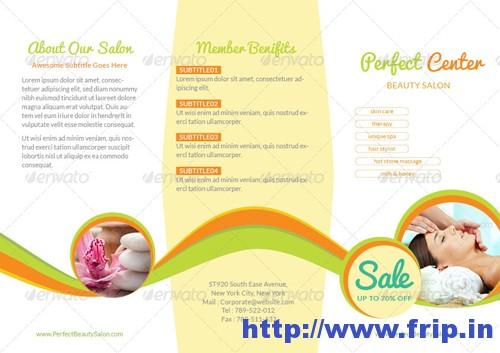 Beauty Spa & Wellness Tri Fold Brochure