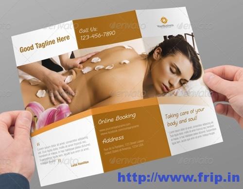 Body Care Tri Fold Brochure Template