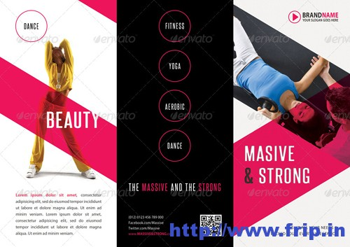 Fitness 3 Fold Brochure Template