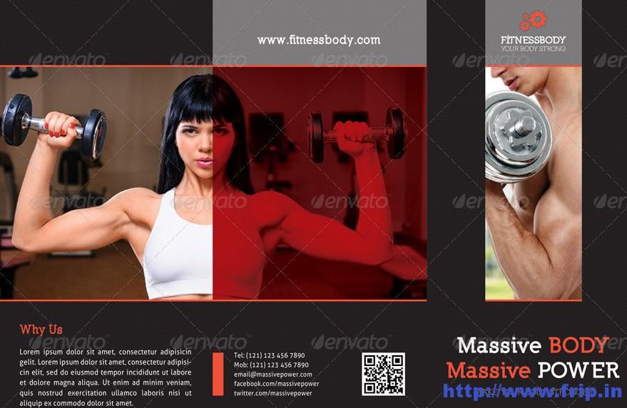 Fitness 3 Fold Brochure Templates