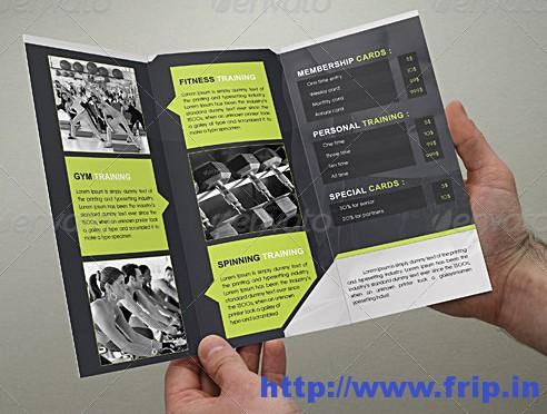 Fitness Brochure Tri – Fold Gym Brochure