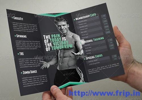 Fitness Brochure Tri Fold Template