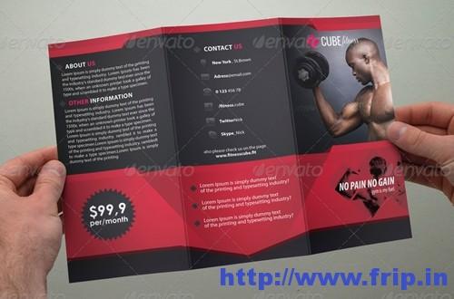 Fitness Brochure Tri fold Brochure