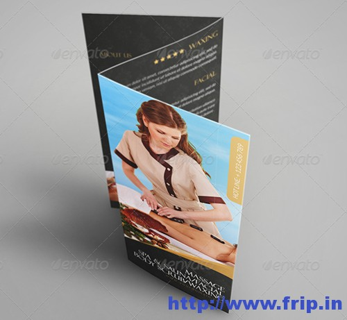 Luxary Spa Tri Fold Brochure