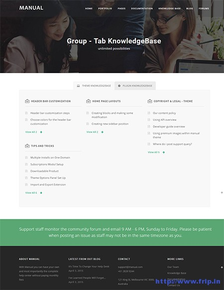 Manual--Helpdesk-WordPress-Theme