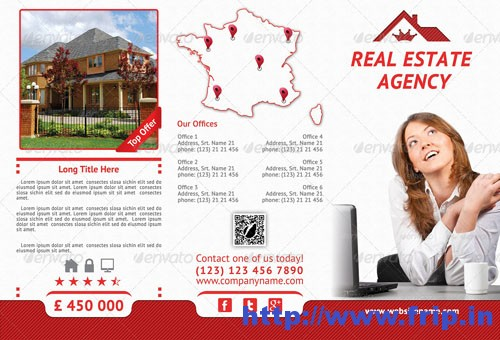Real Estate Agency fold brochure