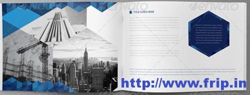 Real Estate Blue Hexo Brochure