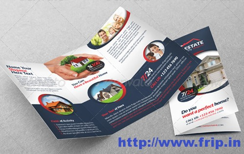 Real Estate Businesss Trifold Template