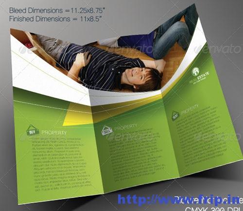 Real Estate Tri-fold Brochure Templatess