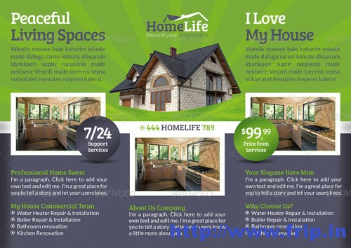 Real Estate Trifold Templates