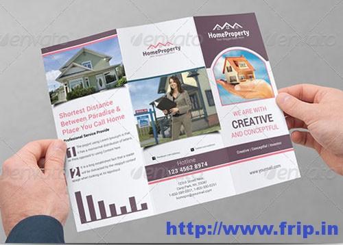 Real Estates Business Tri-Fold Brochures