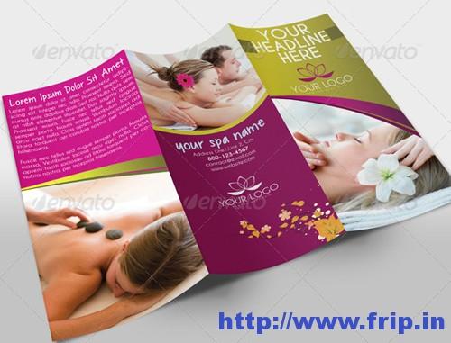 Spa Center Tri Fold Brochure