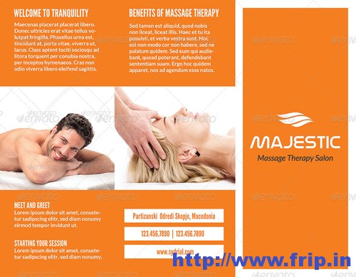 Spa & Message Salon Trifold Brochure