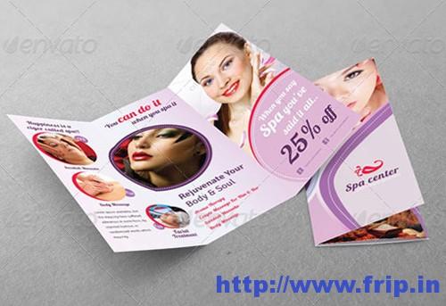 Spa & Tri Fold Brochure Template