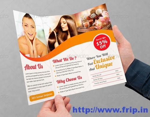 Spa Tri Fold Brochure Template