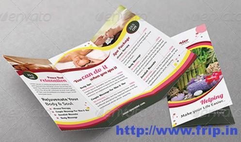 Spa Tri Fold Brochure Templates