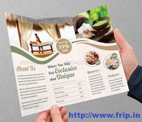 Spas Tri Fold Brochure Templates