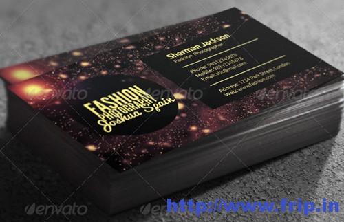Creative Fashion Photographer Business Card