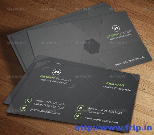 Photographer Business Card v.19