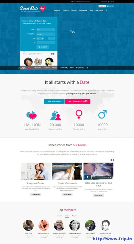 Sweet Date WordPress Dating Theme