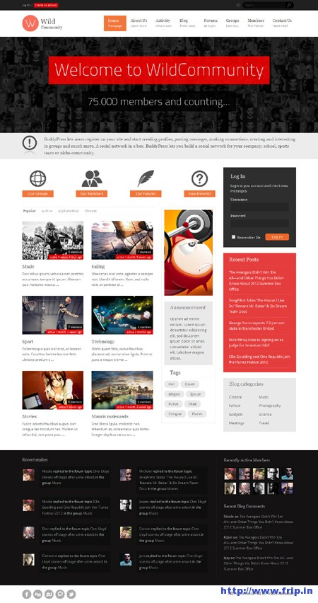 Wild Community BuddyPress Theme