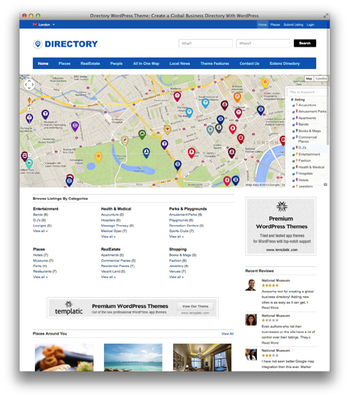 directory wordpress theme templatic