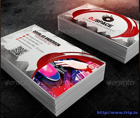 DJ Business Card Templatessjpg