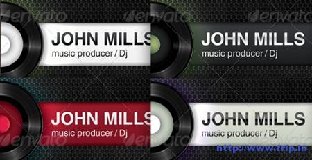 DJ Producer Club Business Cards