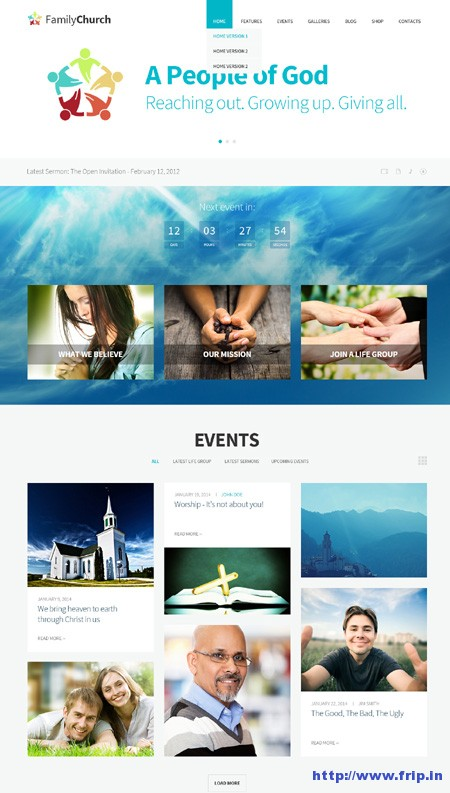 Family Church Responsive Religion Theme