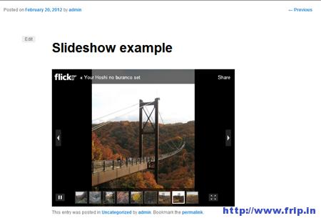 Flickr Set Slideshows Plugin