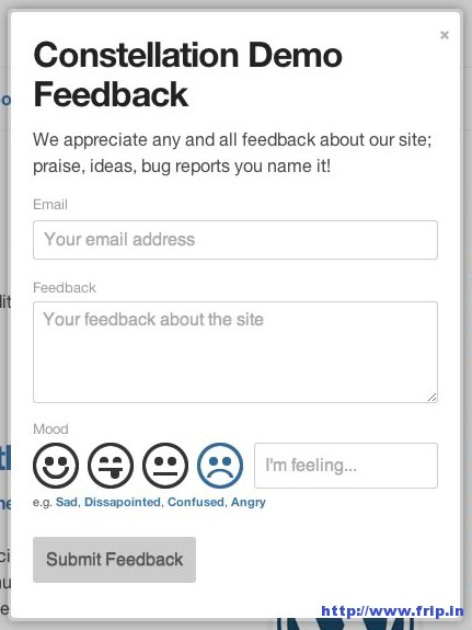 Modal Feedback Form For WordPress
