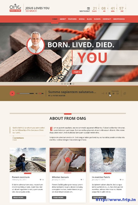 OMG Religion Style PSD Page