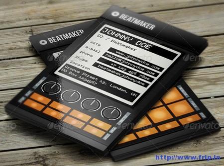 Pro Beatmaker DJ Business Card