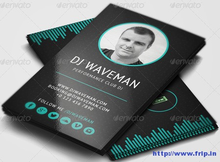 Wave Dj Business Card Template