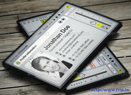 aLive Producer DJ Business Card