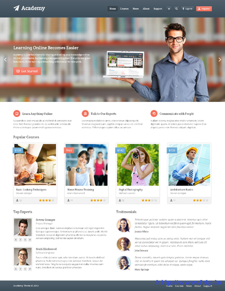 Academy Learning WordPress Theme