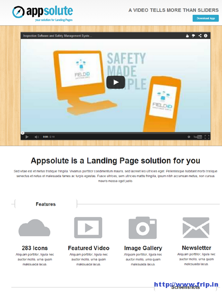 Appsolute Landing Page Template