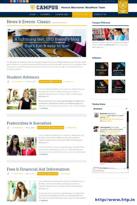 Campus Multipurpose WordPress Theme