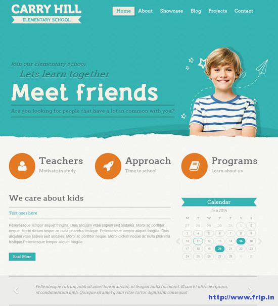 Carry Hill School WordPress Theme