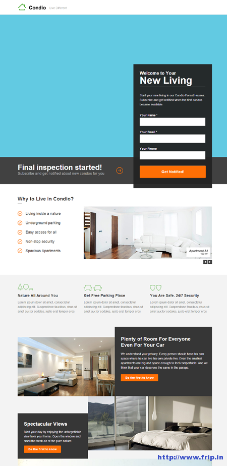 Condio Real Estate Landing Page