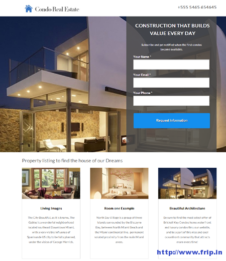 Condo Real Estate Landing Page For Unbounce