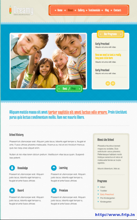 Dreamy Responsive Children WordPress Theme