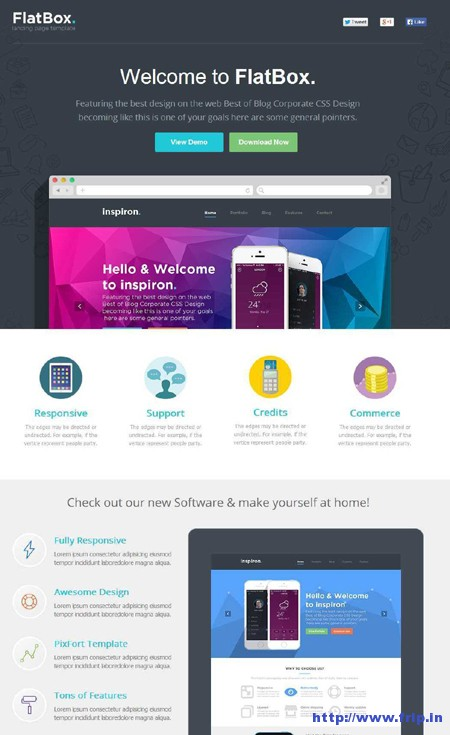Flabox – Unbounce Startup Template