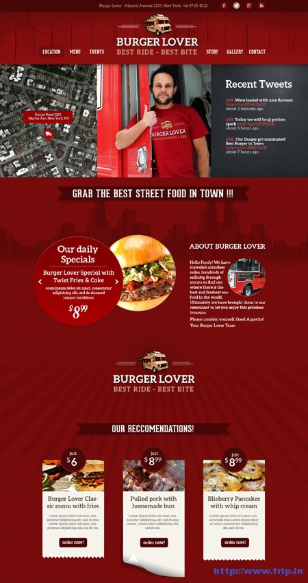Food Truck & Restaurant Styles Templates