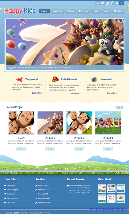 Happy Kids Children WordPress Theme