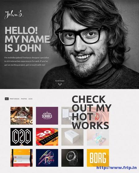 Jhon One Page Portfolio Template