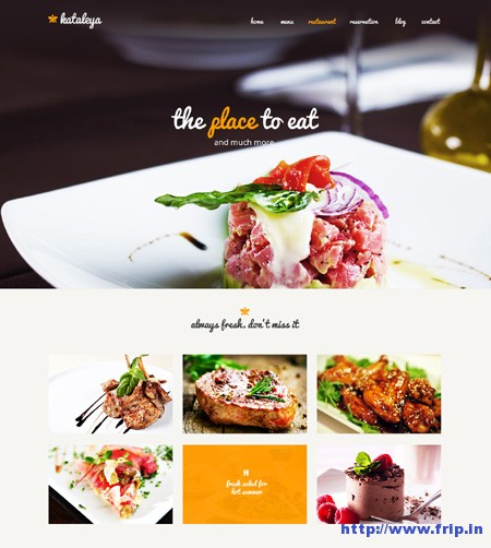 Kataleya Restaurant One Page Template