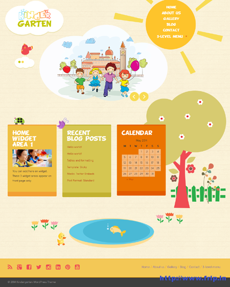 Kindergarten Bootstrap 3 WordPress Theme